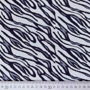 Jerseystoff Jacquard Strickjersey Animal Print, grau schwarz
