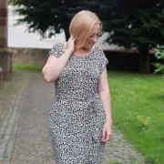 Viskose Jerseystoff Leoparden Muster,rostbraun dunkeltaupe