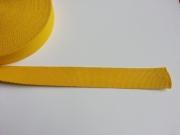 Gurtband Baumwolle 3 cm breit, gelb #52