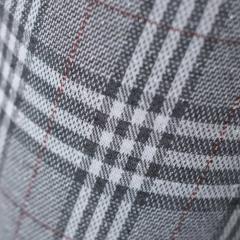 Jacquard Stoff Glencheck Webware Karomuster Glitzer, grau weiß