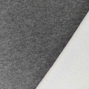 Sweatstoff Alpenfleece uni, dunkelgrau meliert