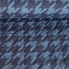 Steppstoff Hahnentritt Muster gesteppt wattiert Stepper, jeansblau dunkelblau