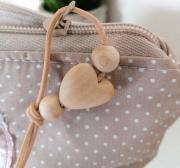Baumwollstoff kleine Punkte beschichtet Petite Dots, weiß hellbeige
