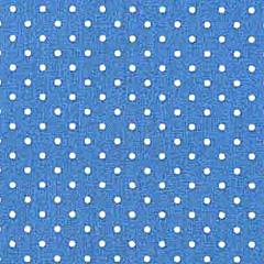 Baumwollstoff kleine Punkte beschichtet Petite Dots, weiß indigo blau
