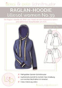 Papierschnittmuster Raglan-Hoodie Lillesol women No.39