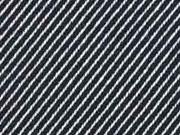 Dekostoff diagonale Streifen Doubleface, schwarz