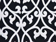 Doubleface Jacquard Ornamente, schwarz weiß
