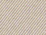 Dekostoff diagonale Streifen Doubleface, beige