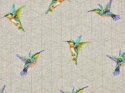 Leinenlook kleine Kolibris