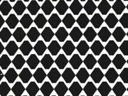 Jacquard Stoff Rauten Doubleface, schwarz weiß