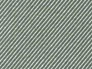 Dekostoff Jacquard diagonale Streifen Doubleface, natur grün