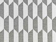 Outdoorstoff Dralon®  Teflon grafisches Muster, creme schwarz