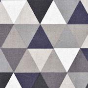Dekostoff Dreiecke Leinen Optik, dunkelgrau taupe natur