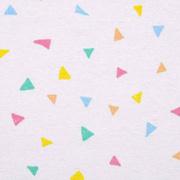 Dekostoff kleine Dreiecke, mint rosa gelb weiß
