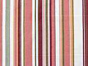 Dekostoff Streifen vertikal, altrosa khakigrün cremeweiß