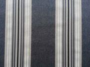 RESTSTÜCK 48 cm Dekostoff Streifen grau melange/natur