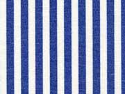 RESTSTÜCK 61 cm Dekostoff Streifen 5 mm, blau ecrue