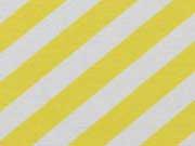 RESTSTÜCK 32 cm Dekostoff diagonale Streifen, gelb weiß