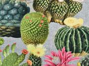 RESTSTÜCK 60 cm Digitalprint Half Panama Cactus Mix