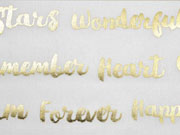 Dekostoff Metallic Words, gold creme