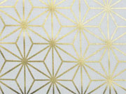 Dekostoff Metallic Geo Star, gold creme