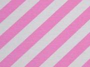 Dekostoff diagonale Streifen, hellpink weiß
