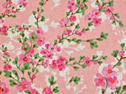 Dekostoff Kirschblütenzweige, rosa