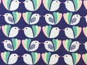 Megan Blue Jersey Vogelliebe, dunkelblau