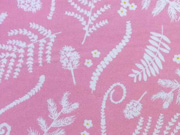 Baumwolle Ranken & Blätter, rosa