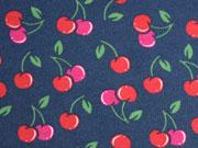 RESTSTÜCK 43 cm Sweat Cherries, dunkelblau