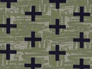 Jersey Crosses, schwarz auf khaki
