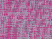 Jerseystoff wilde Linien, hellgrau pink