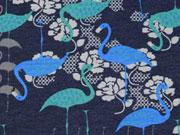 Megan Blue Jersey Flamingos, dunkelblau