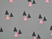 Bio-Jersey Triangles grau/ lachsrosa Bloome CPH