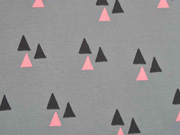 Bio-Jersey Dreiecke Triangles grau lachsrosa Bloome Copenhagen