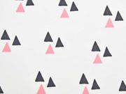 Bio-Jersey Triangles weiß/ lachsrosa Bloome CPH