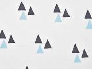 Bio-Jersey Dreiecke Triangles weiß hellblau Bloome Copenhagen