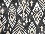 Dekostoff Ethno Inkamuster Boho Style, beige dunkeltaupe