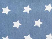 weiße Sterne 2cm auf jeansblau