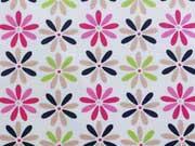 Stenzo Jersey Sternblumen, pink/navy auf weiss
