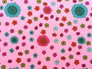 Jersey Blumen, rosa