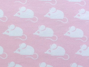 Bio-Jersey Stenzo Mäuse, weiss auf rosa