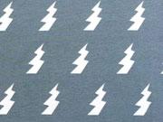 Bio-Jersey Stenzo Blitze, weiss auf blaugrau