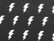 Bio-Jersey Stenzo Blitze, weiss auf schwarz