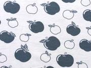 Bio-Jersey Stenzo Äpfel, blaugrau auf weiß
