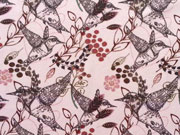 RESTSTÜCK 140cm Jersey Stenzo Kolibri / Hummingbird, rosa
