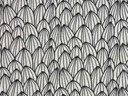 Jersey grafisches Muster, schwarz/ecru