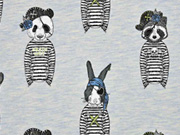 French Terry Piraten Tiere Stenzo hellblau