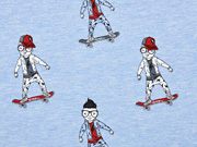 French Terry Skateboarder Stenzo, hellblau meliert