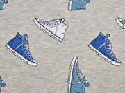 Jersey Turnschuhe Sneaker Stenzo, jeansblau grau